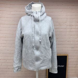 LULULEMON Heather Gray Sweatshirt Hooded Jacket 6